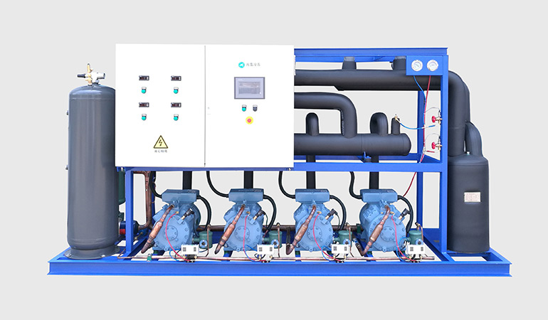 Air Cooled Semi-hermetic Compressor Rack Compatible to Low Temperature Refrigeration (-30~-15℃)
