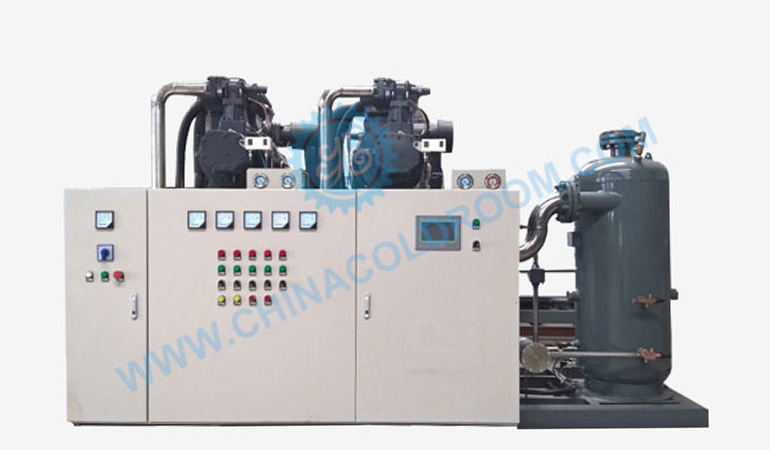 Two Stage Water Cooled Piston Condensing Unit – Large Scale Refrigeration Unit (-40~-25℃)